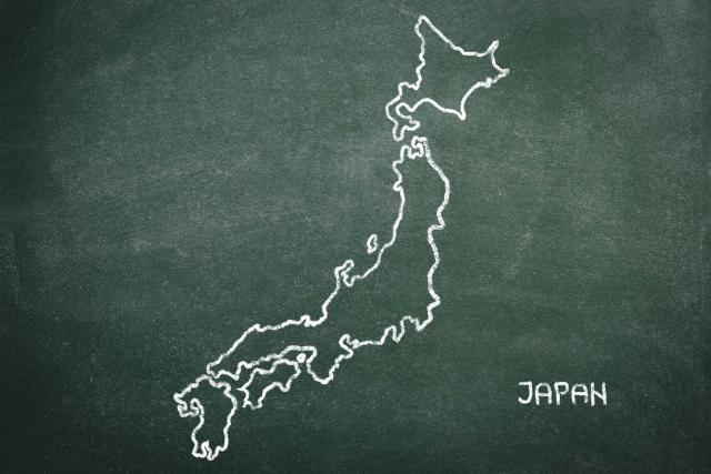 日本地図、土地